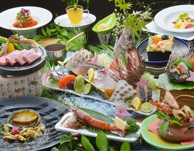 10月☆季節のグレードアップ美味特選懐石 (鮮魚桶盛・松茸・活あわび・車海老・高森牛)